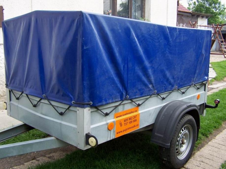 Střední přívěsný vozík Agados Handy s plachtou - Filip, max. do 620kg