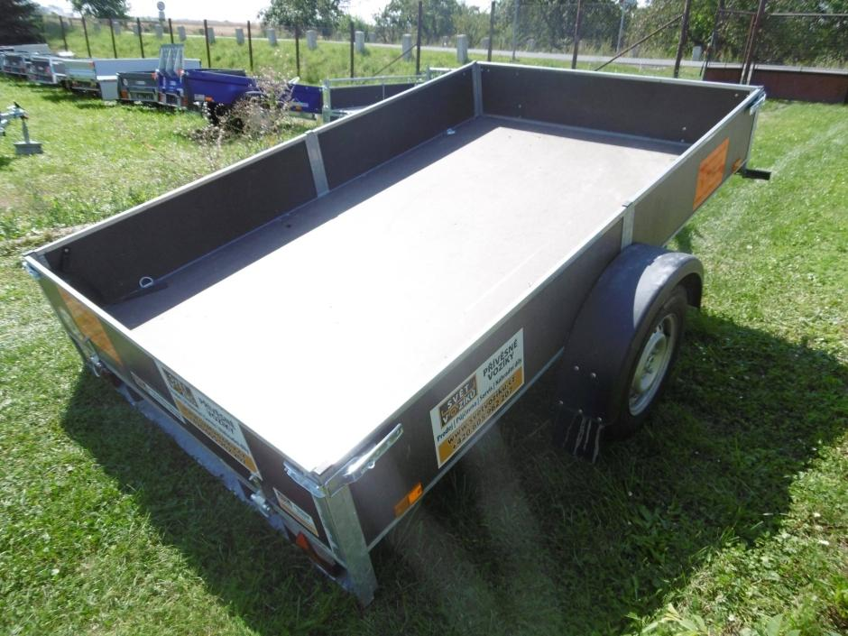 Sklopný nekrytý přívěsný vozík - Zuzana, max. do 1000kg