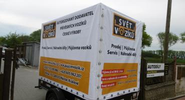 Krytý přívěsný vozík se zesílenou nápravou 1300kg - Vendula